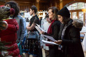 Vorbereitungen Grand Brand Fashion Show in Zermatt