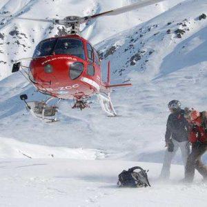helikopterflug, tiefschneetraum