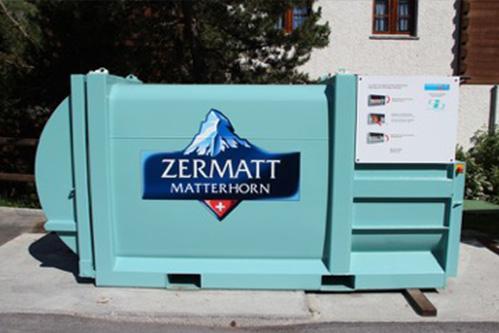 Müllpresse in Zermatt