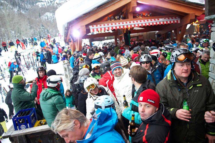 Après-Ski mit Freunden