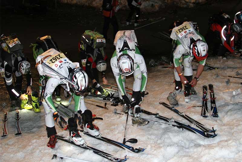 Männer Team Skiausrüstung Skitourenrennen