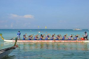Dragonboating in the sea