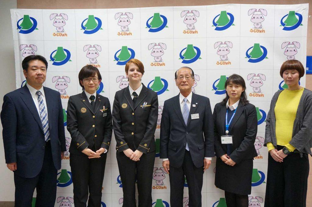 Treffen in Kawaguchiko mit dem Bürgermeister