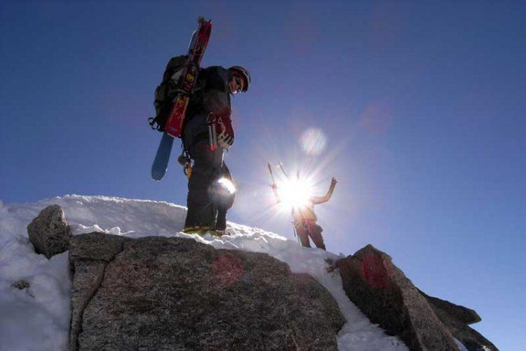 Erste Sonnenstrahlen beim Patrouille des Glaciers
