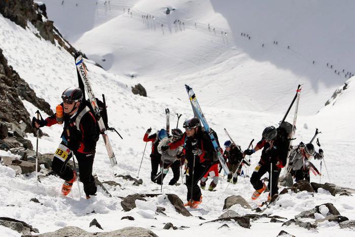 Bergaufstieg Patrouille des Glaciers