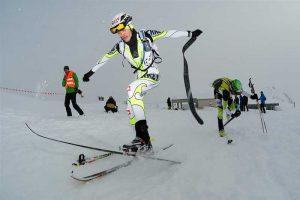 vom Tourengehen ins Skifahren wechseln