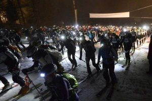 Patrouille des Glaciers in der Nacht