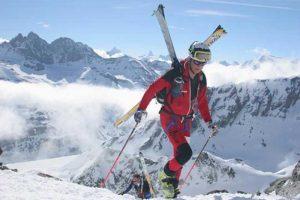 Training für das Skitourenrennen Patrouille Des Glaciers