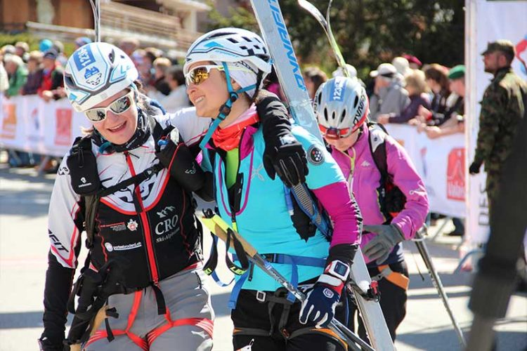 Gebirgsrennen Ziel Frauen
