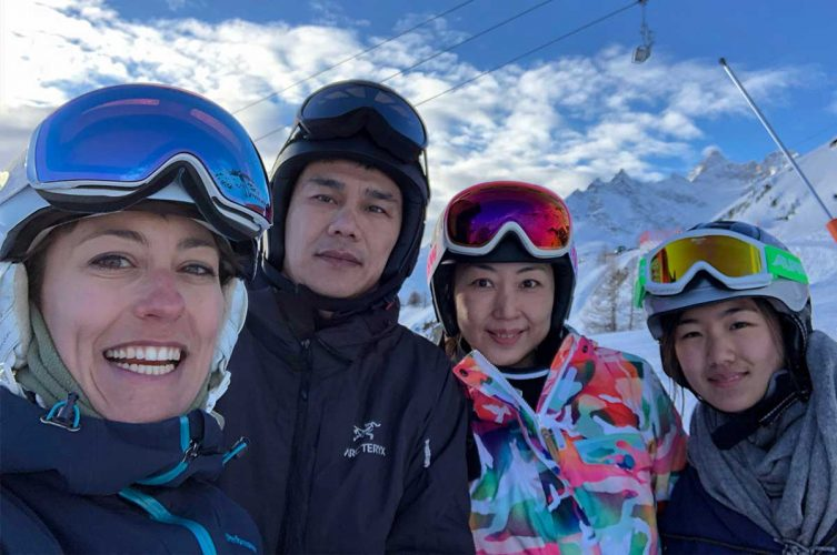 Skiing with Chinese friends