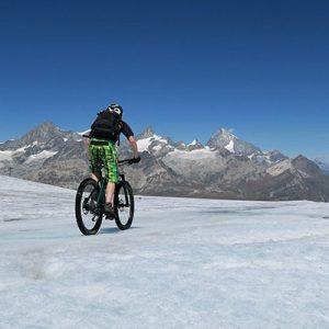Biken am Gletscher