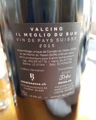 Valcino vin étiquette