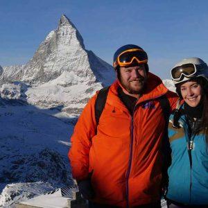 in front of the Matterhorn