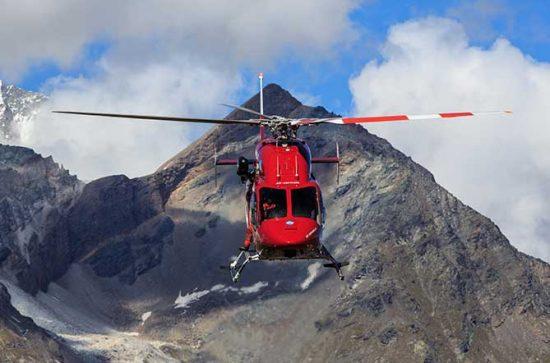 Anflug Helikopter