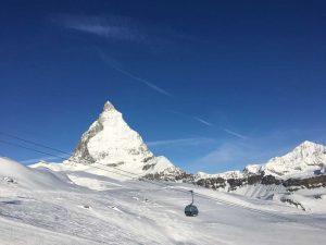 Skifahren am Matterhorn