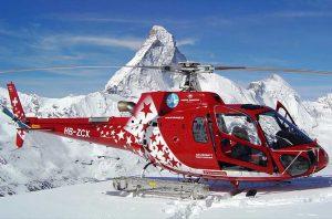 Helikopter im Schnee