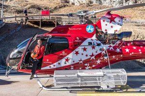 Landeplatz Parkstation vom Helikopter