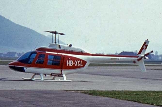 Der erste Heli war eine Maschine vom Typ Agusta-Bell 206A Jet Ranger