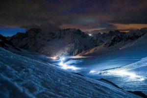 Die Patrouille des Glaciers bei Nacht
