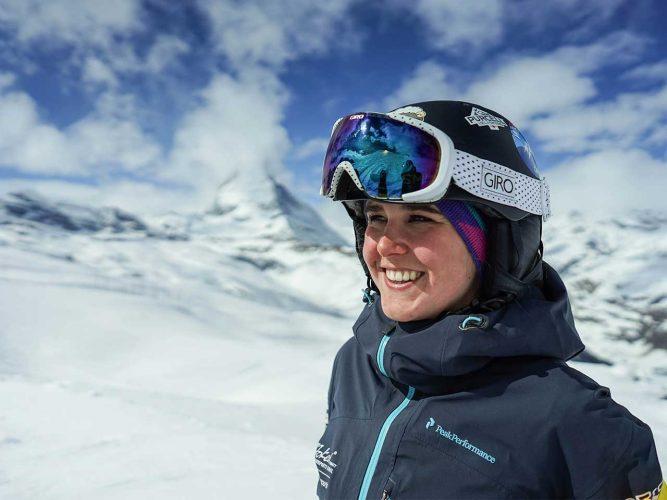 Portrait von Skilehrerin Nadine