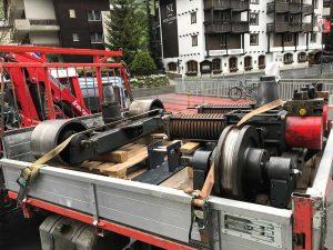 LKW Aufladen Drehgestellwechse
