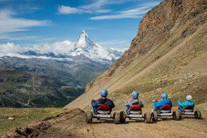 Abfahrt mit den Mountaincarts