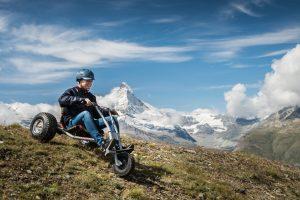 Talfahrt mit dem Mountaincart