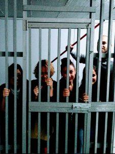 people in the prison break room
