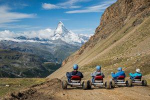Talfahrt mit Mountaincarts