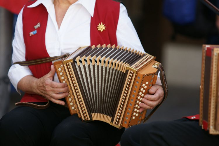 Folklore music in the village