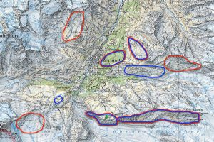 Karte für die Wildbeobachtung