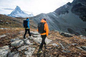Wandern in den Bergen von Zermatt