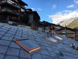 Dacharbeiten auf dem Boutique Hotel 22 SUMMITS