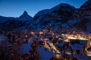 Zermatt vor dem Sonnenaufgang