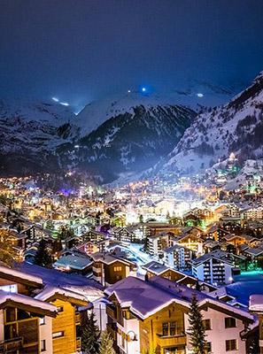 Zermatt im Dunkeln