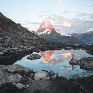 Matterhorn and lake view