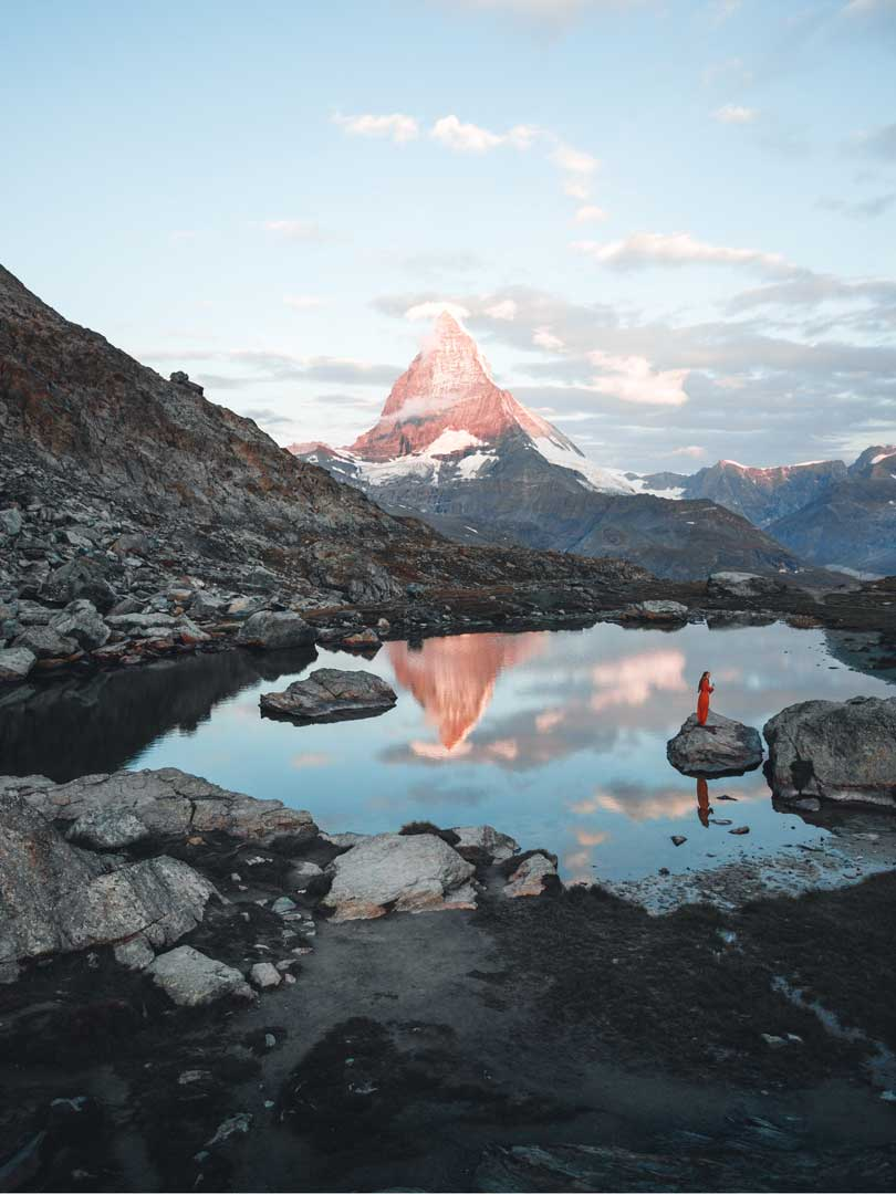 Matterhorn and lake view