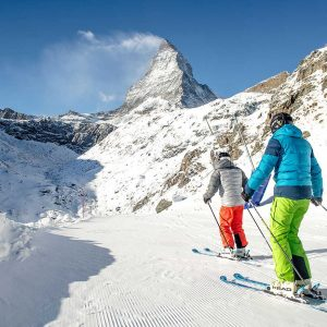sciatore sul Cervino