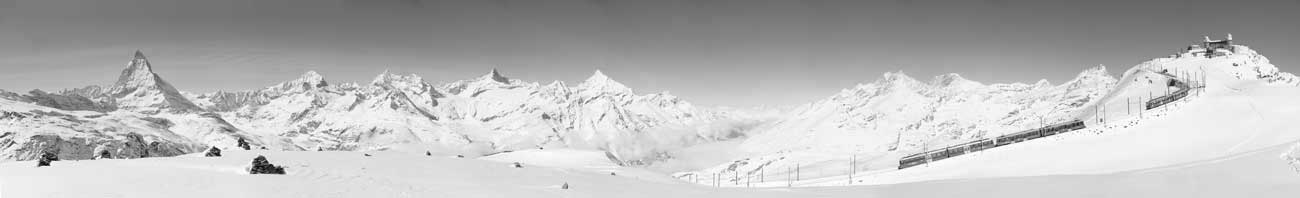Panorma-Gornergrat-Winter
