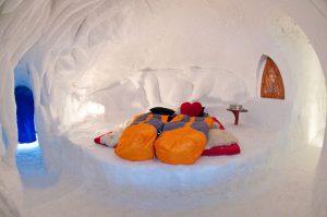 Romantik Suite im Iglu-Dorf