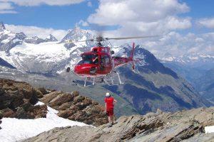 Helikopter am Berg