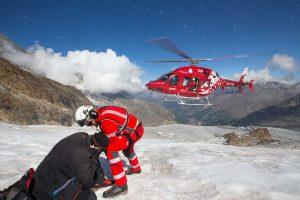 Air Zermatt rettet am Berg