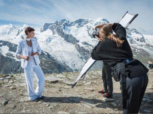 Fotoshooting am Berg