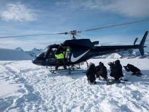 Nike Helikopter im Schnee