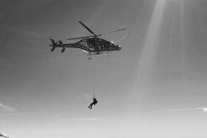 Einsatz vom Helikopter am Breithorn