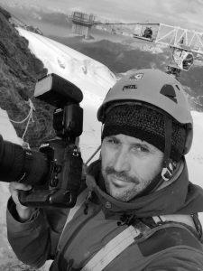 Fotograf Michael Portmann beim Fotografieren