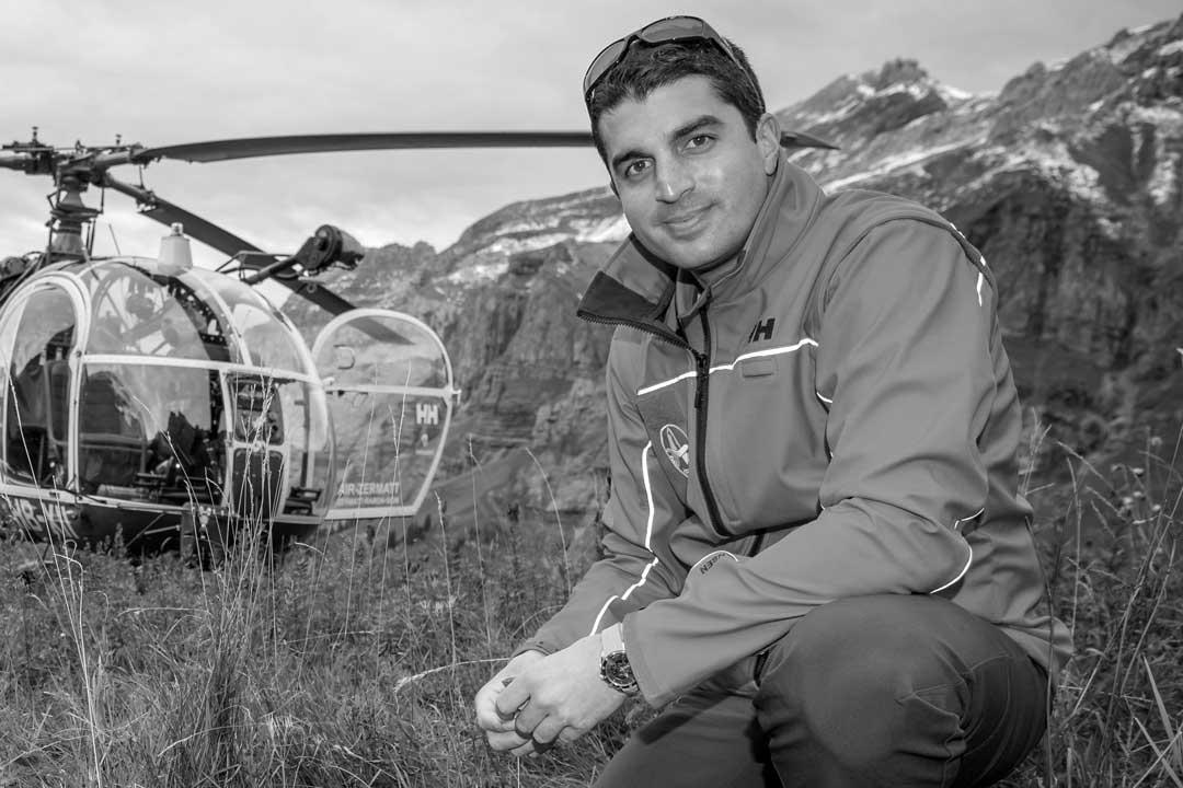 Ulysse Jentsch Pilot und Fluglehrer am Berg