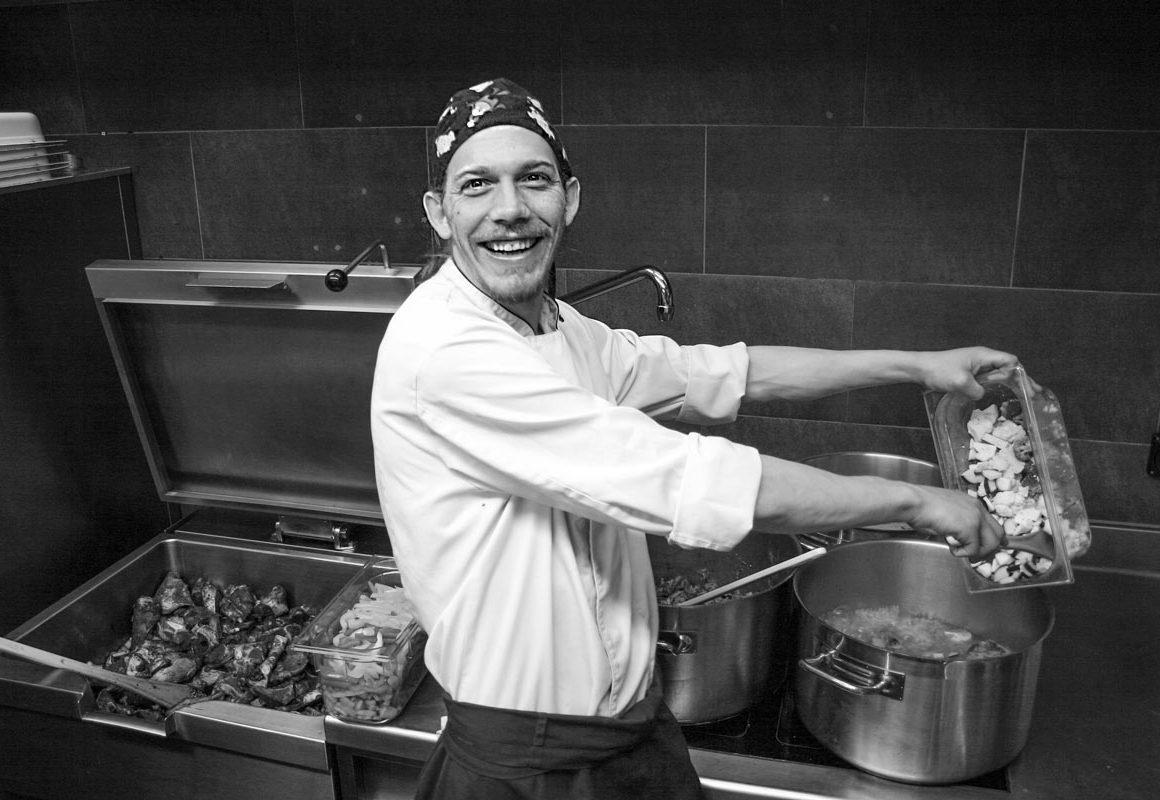 Koch Christian Loretan in der Küche