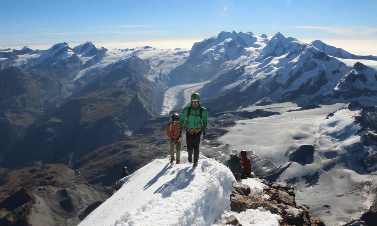 Hochbetrieb am Matterhorn. Zum zweiten Mal auf dem Gipfel nach dem Furgggrat
