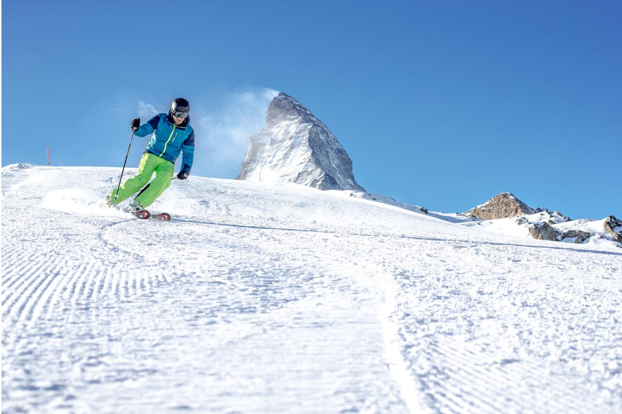 Frühling Skifahren